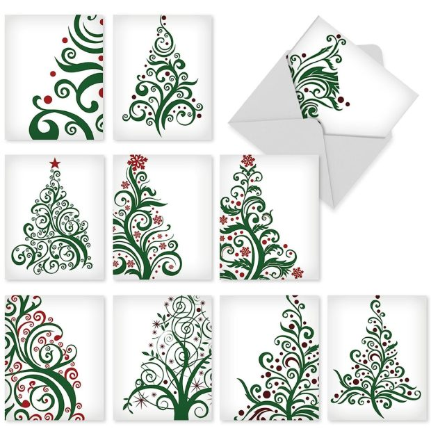 Just Fir You: 10 Assorted Christmas Note Cards W/Matching Envelopes Only $11.95! Was $15!