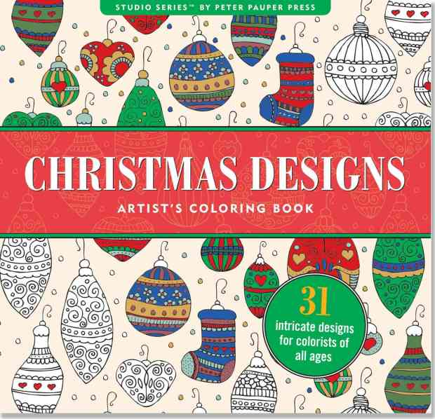 Christmas Designs Adult Coloring Book Only $7.56!