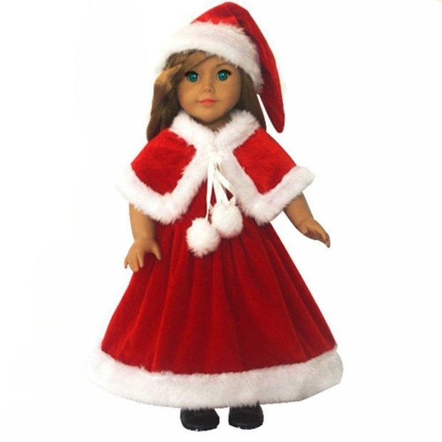 """Compatible With American Girl 18"""" Doll - 3 Pc Christmas Outfit Only $14.99!"""