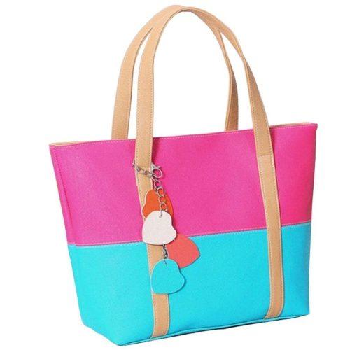 Color Block Shoulder Bag Just $7.20 + FREE Shipping!