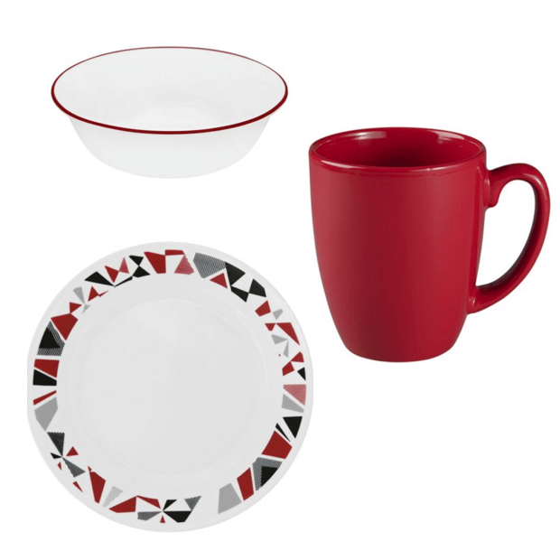 Corelle 12 Pc Open Stock Snack Set Just $29.88!