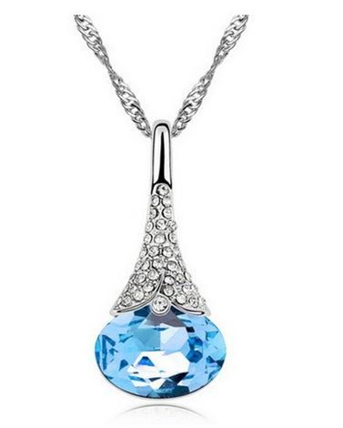 Crystal Drop Pendant Just $2.85 + FREE Shipping!