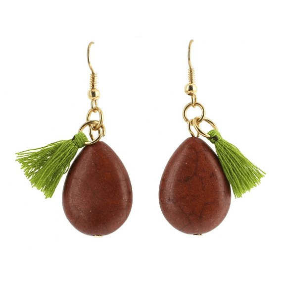 Dasha Tassle & Teardrop Stone Earring Just $9.95! Ships FREE!