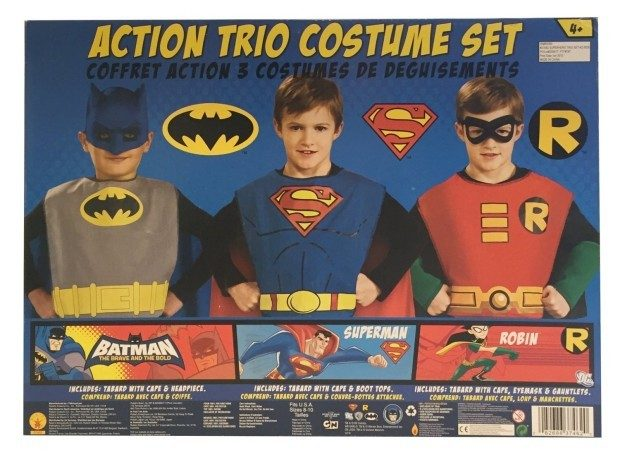 DC Comics Action Trio Child Costume Kit Just $15.60!  Down From $33!