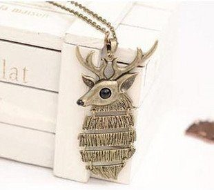Brass Deer Necklace Only $5.69! Ships FREE!