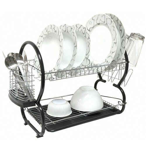 Home Collections 2 Tier Chrome Plated Steel Dish Drainer Just $20.69 Down From $69.99! Ships FREE!