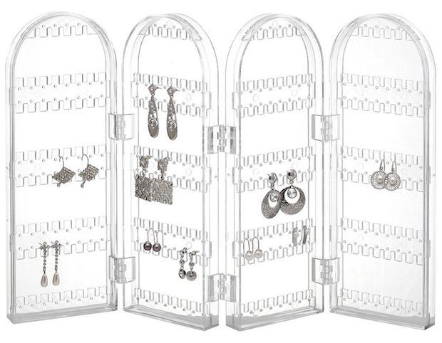 Foldable Acrylic Earring Screen Holds Up To 130 Pairs Only $6.99!  (Reg. 19!)
