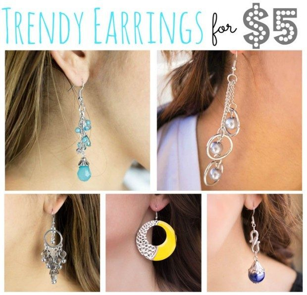 5 Trendy Earrings For $5!