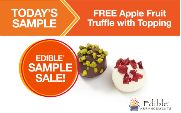FREE Apple Fruit Truffle with Topping From Edible Arrangments!