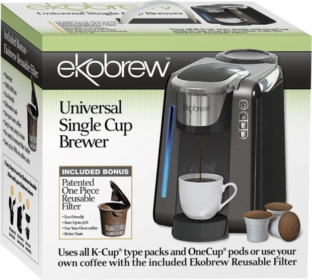 Ekobrew Universal K-Cup Brewer for Keurig 2.0 and 1.0 K-cups Only $59.99!