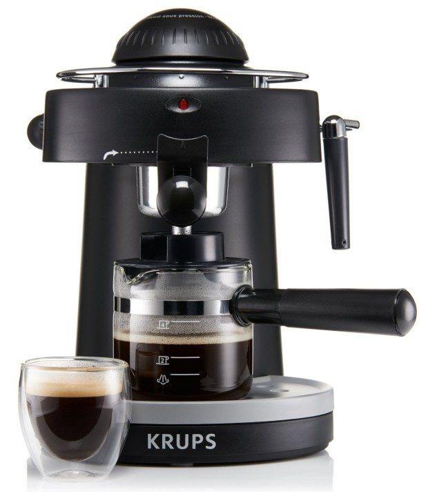 KRUPS Steam Espresso Machine With Frothing Nozzle For Cappuccino Only $29.99!