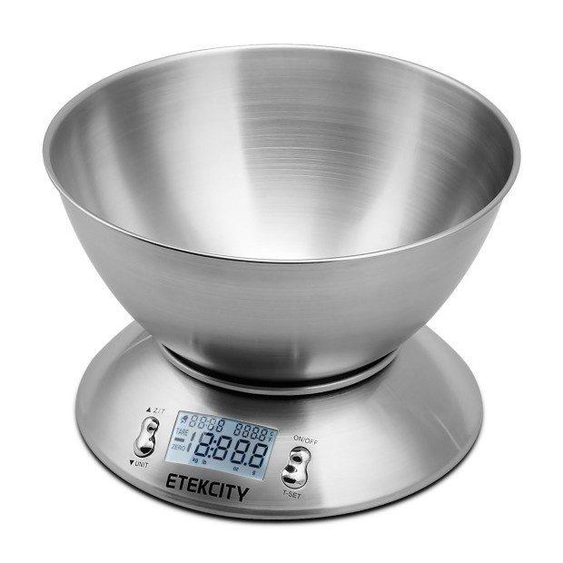 Digital Kitchen Food Scale, Alarm Timer & Temp Sensor Just $16.89! (Reg. $50!)