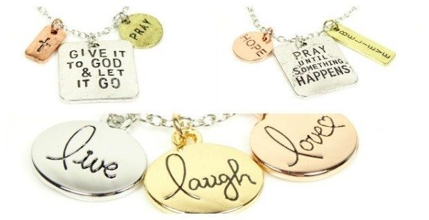 Inspirational Faith-Based Tri-Tone Stamped Necklaces Just $4.99 (Reg. $20)!