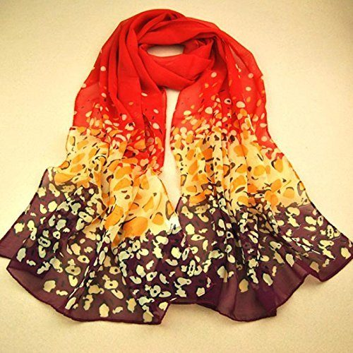 Chiffon Scarf in Fall Colors Just $2.29 + $1 Shipping!