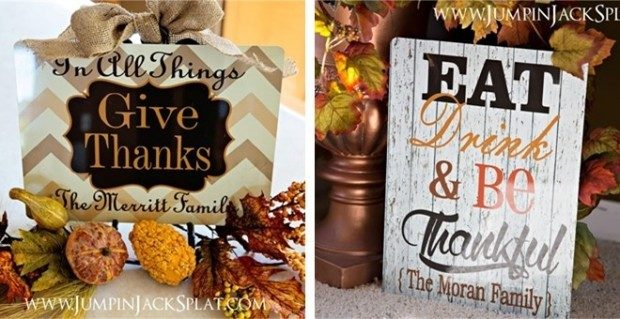 Personalized Decorative Fall Signs! 3 Styles! Only $12.99!