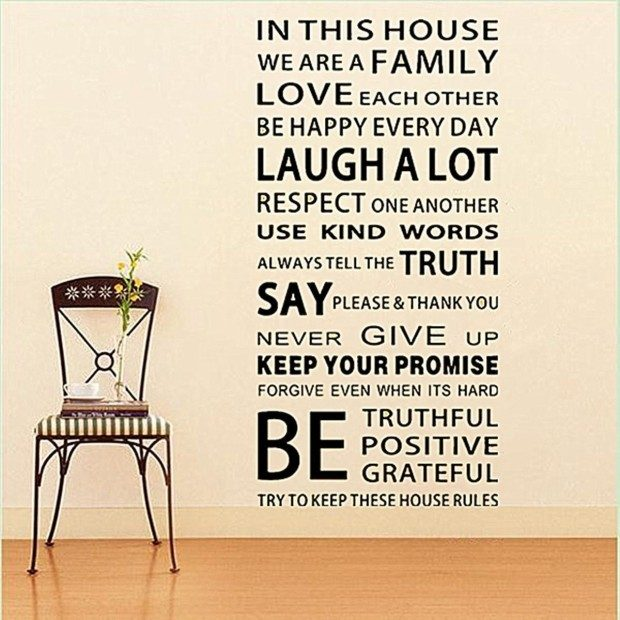 Family Rules Wall Decal Only $5.45 + FREE Shipping!