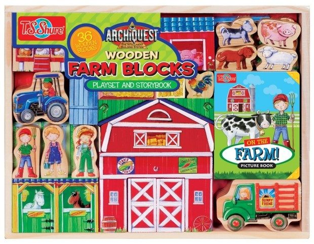 T.S. Shure ArchiQuest Wooden Farm Blocks Playset & Storybook Only $16.04 (Reg. $40)!