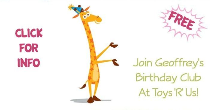 Join Geoffrey's Birthday Club At Toys 'R' Us!