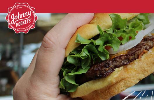 FREE Johnny Rockets Hamburger!