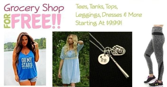 Tees, Tanks, Tops, Leggings, Dresses & More Starting At $9.99!