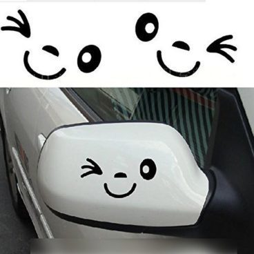 Winking Face Side Mirror Decal Only $1.45 + FREE Shipping!