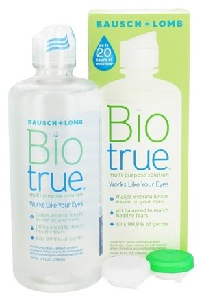 free biotrue contact lens solution sample