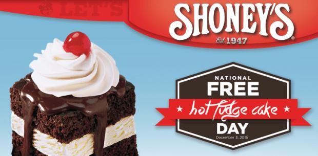 FREE Hot Fudge Cake From Shoney's!