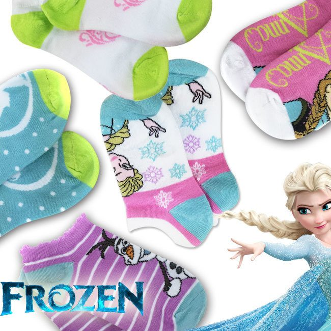 Officially Licensed Disney's Frozen 6 Pairs of No-Show Socks Only $5.94 Plus FREE Shipping