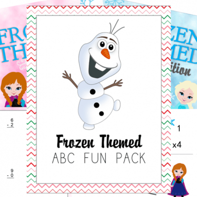 FREE Frozen-Themed ABC + MATH Download!