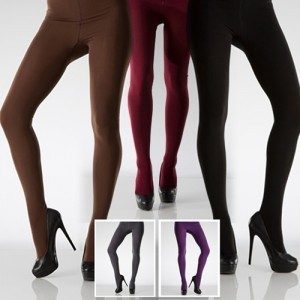 Ladies Fleece Lined Footed Tights Just $3.99!