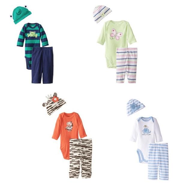 Gerber Newborn 3 Piece Clothing Sets Only $9.99!