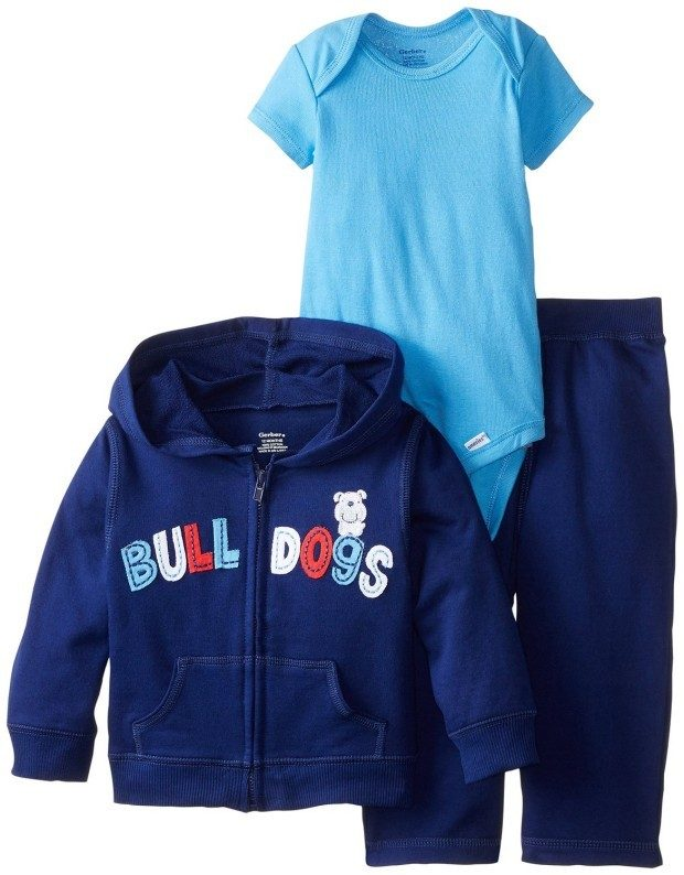 Gerber Baby Boys' 3 Piece Hooded Jacket Bodysuit & Pant Set Only $7.63! (Reg. $15)