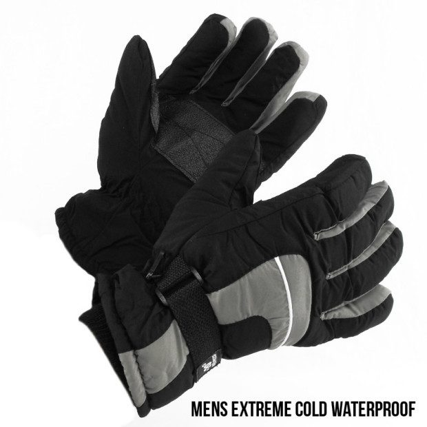 Mens Extreme Cold Waterproof Gloves - L or XL Just $6.99!  Ships FREE!