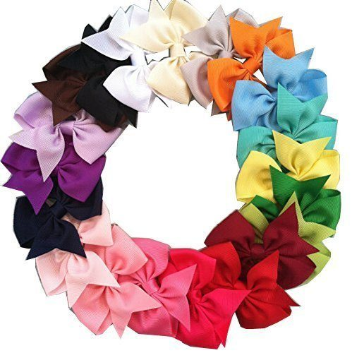 "Price Drop! 20 Pc 3"" Boutique Kids Hair Bows Now Just $4.28! Ships FREE!"