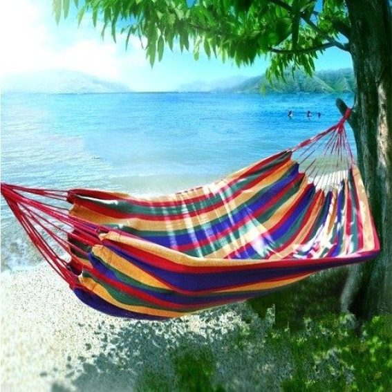 Cotton Canvas Multi-Cord Lounge Hammock Just $27.99 Down From $69.99 At GearXS! Ships FREE!