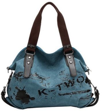Fansela(TM) Graffiti Canvas HandbagJust $30 Down From $90!