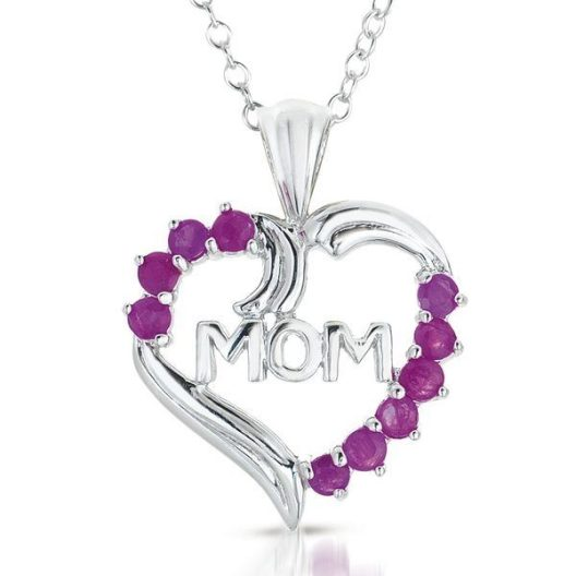 Sterling Silver & Genuine Ruby Pendant Necklace Just $16.99! Down From $125.00! Ships FREE!