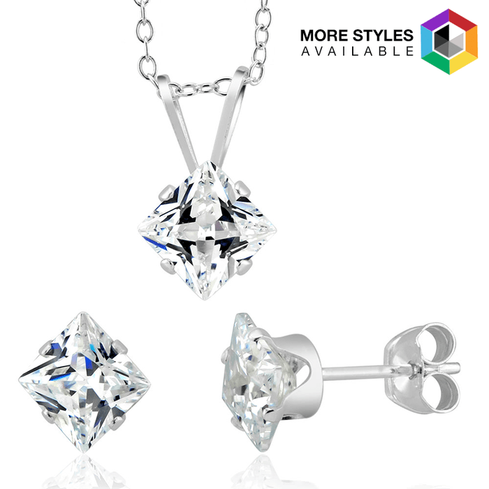 Birthstone Sterling Silver Earring & Pendant Set Just $9.99! Down from $129.99! Ships FREE!