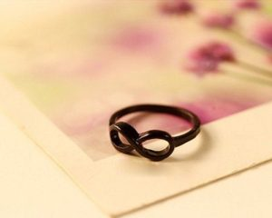 Infinity Ring in Black or Silver Only $0.73 SHIPPED!