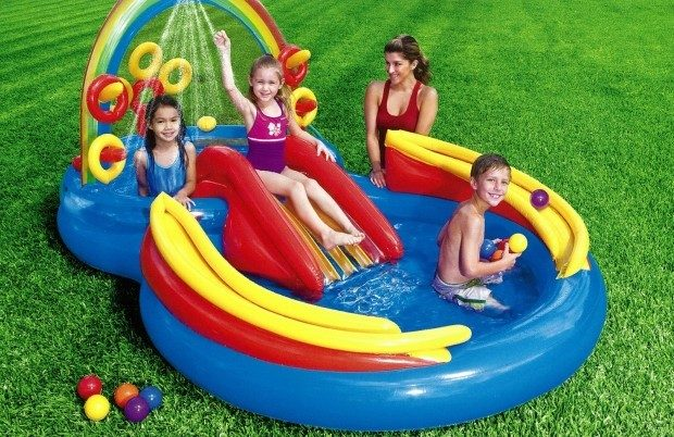 Intex Rainbow Ring Inflatable Play Center Only $39.97! (Reg. $60)