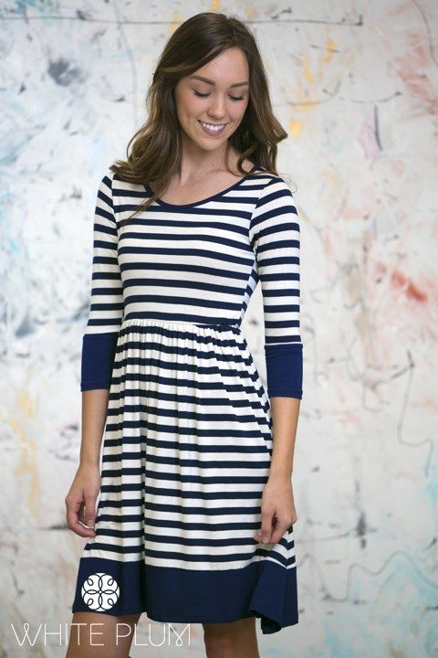 Kelsey Knee Length Striped Dress Only $22.98 Shipped!