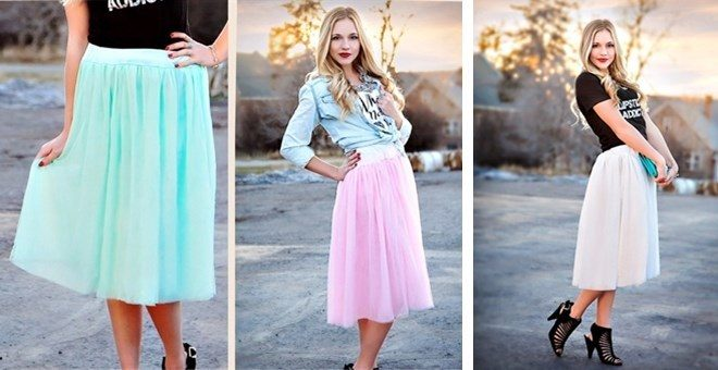 Spring Tulle Skirt Only $19.99!