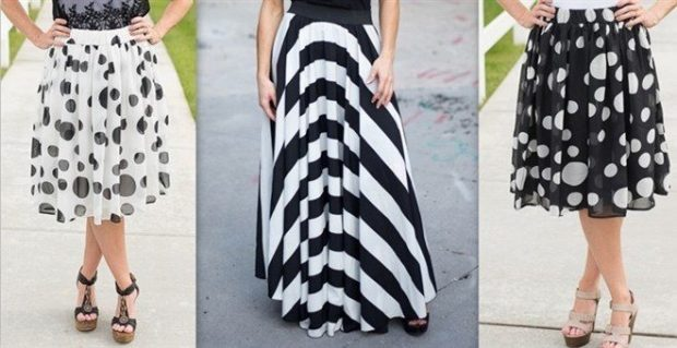 Stripes Or Dots Skirt Blowout - Only $14.99!