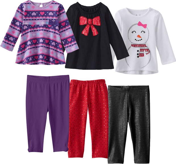 Baby Girl Jumping Beans® Holiday Mix & Match Coordinates Just $3.39 Each!
