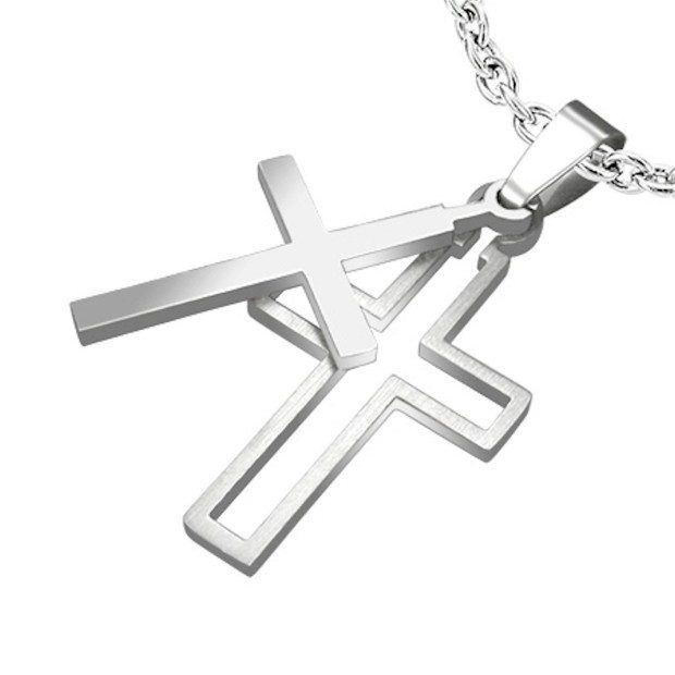Latin Cross Two Piece Cut Out Pendant Only $7.99! Ships FREE!