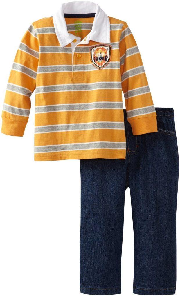 Baby-Boys 2 Pc Lion Shirt & Pant Starts At $5.05!  (Reg. $22)