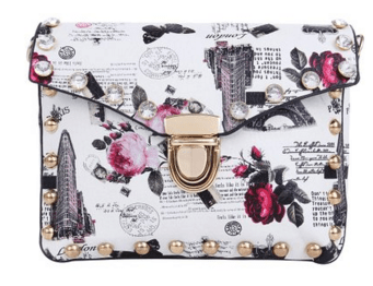 London Rhinestone Studded Shoulder Bag Clutch Just $10 Down From $20!