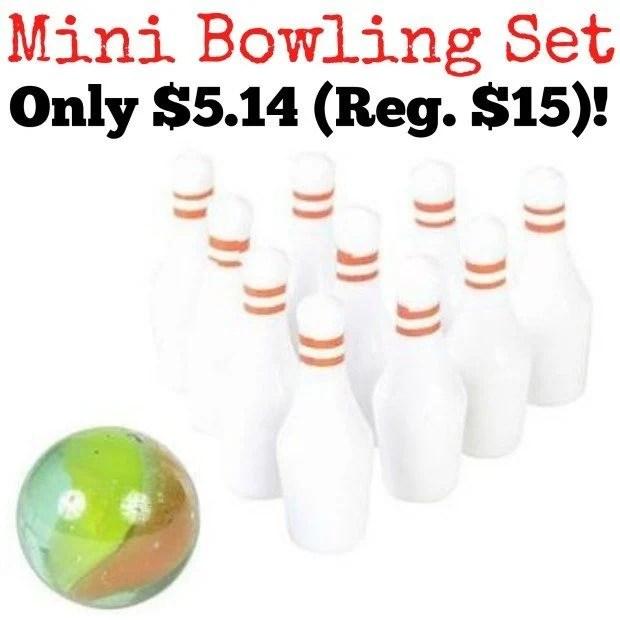 Mini Bowling Game Only $5.14 (Reg. $15)!