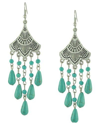 Retro Green Dangle Earrings Only $8.99 + FREE Shipping!