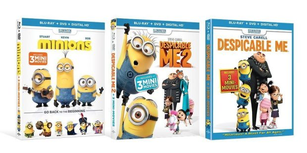 Despicable Me / Despicable Me 2 / Minions [Blu-ray] Just $23.99! (Reg. $89)